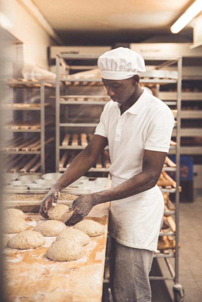 Fotoreportage beim Bäcker